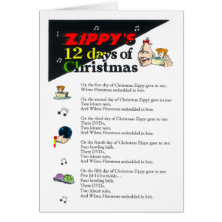 Zippy's 12 Days of Christmas Card