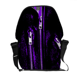 Zips Purple print messenger bag medium