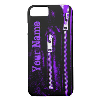 Zips Purple print Name iPhone 7 case