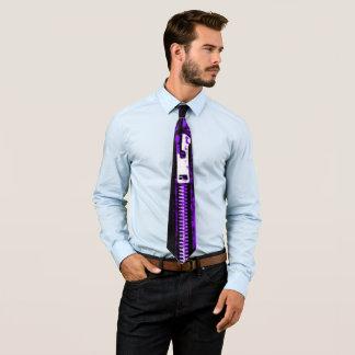 Zips Purple print tie