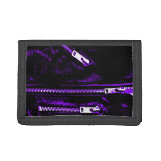 Zips Purple print wallet