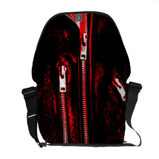 Zips Red print messenger bag medium