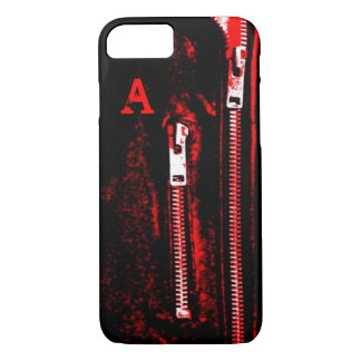 Zips Red print Monogram iPhone 7 case