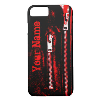 Zips Red print Name iPhone 7 case