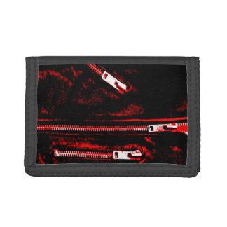 Zips Red print wallet