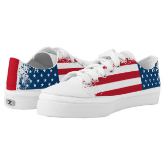 ZipZ Shoes Low Top-Patriotic USA Flag