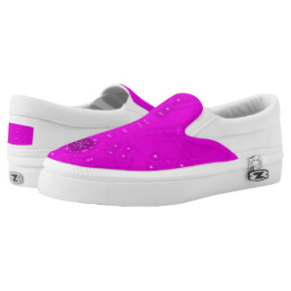 Zipz Slip On Kaleidoscope Art Sweet Pink White