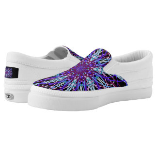 Zipz Slip On Kaleidoscope Mandala Art Purple White