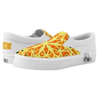 Zipz Slip On Kaleidoscope Mandala Yellow Orange