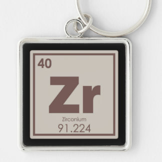 Zirconium chemical element symbol chemistry formul keychain