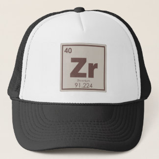 Zirconium chemical element symbol chemistry formul trucker hat
