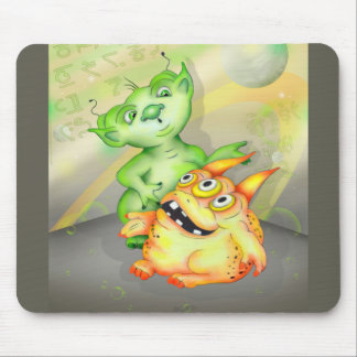 ZIRGOL CUTE ALIENS CARTOON MOUSE PAD
