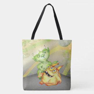 ZIRGOLS ALIEN  All-Over-Print Tote Bag, Large