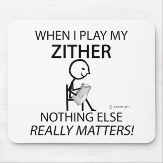 Zither Nothing Else Matters Mouse Pad