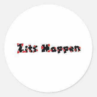 Zits Happen Classic Round Sticker