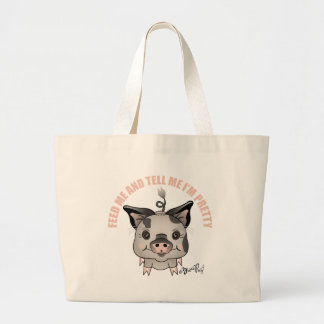ZivaPig Feed-Me Large Tote Bag