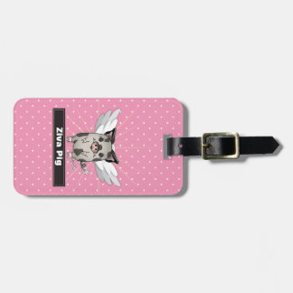 ZivaPig When Pigs Fly Luggage Tag