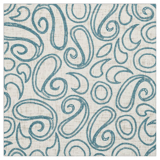 ziya cream blue fabric
