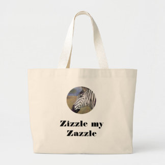 Zizzle my Zazzle Large Tote Bag
