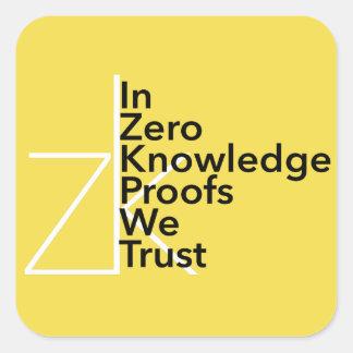 zk We Trust Sticker