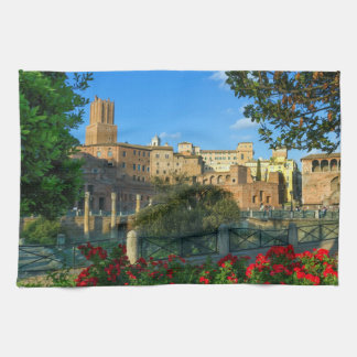 zL_italy_forum_romano_flowers_day Kitchen Towel