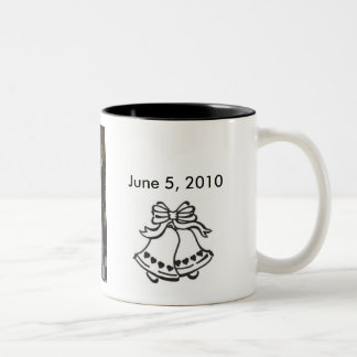 zme et Danny, mariage-cloche-avec… - Customisé Mug Bicolore