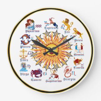 Zodiac 6 Colors Clock