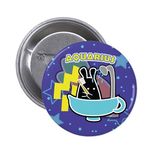 ZODIAC - AQUARIUS 2 INCH ROUND BUTTON