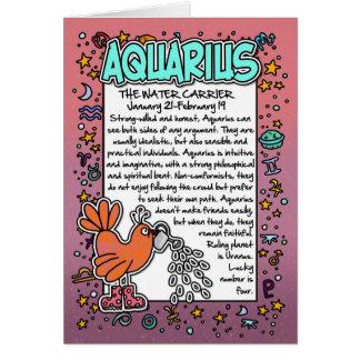 Zodiac - Aquarius Fun Facts Card