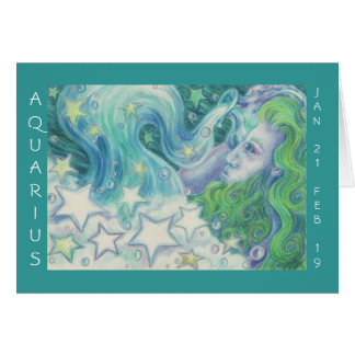Zodiac Aquarius 'Happy Birthday' greetings card
