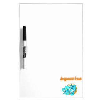 Zodiac Aquarius illustration Dry Erase Board