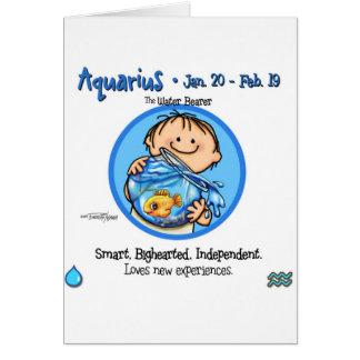 Zodiac - Aquarius Sign Card