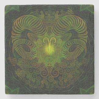 Zodiac Aries Marble Stone Coaster