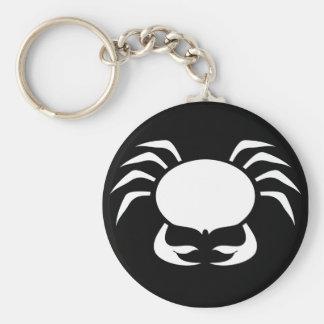 Zodiac astrology cancer silhouette basic round button keychain