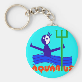 Zodiac Astrology Horoscope Sign Aquarius Keychain