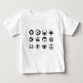 Zodiac astrology horoscope star signs icon set baby T-Shirt