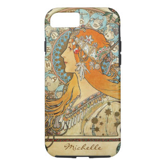 Zodiac by Alphonse Mucha Monogram iPhone 8/7 Case