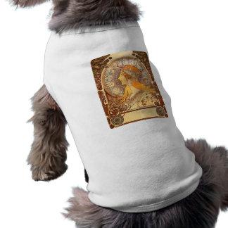 Zodiac by Mucha Dog Tshirt