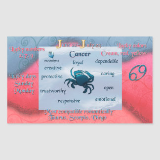 Zodiac Cancer Sticker