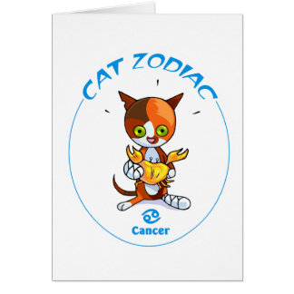 Zodiac Cats Cancer Stationery Note Card