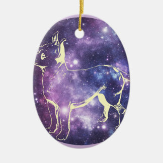 Zodiac Chihuahua Ceramic Oval Ornament