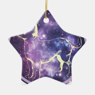 Zodiac Chihuahua Ceramic Star Ornament