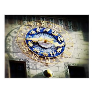 Zodiac Clock in Munich Postcard