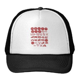 ZODIAC display art for FUN.  ENJOY n share the joy Trucker Hats