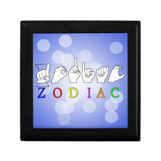 ZODIAC FINGERSPELLED ASL NAME  SIGN GIFT BOX