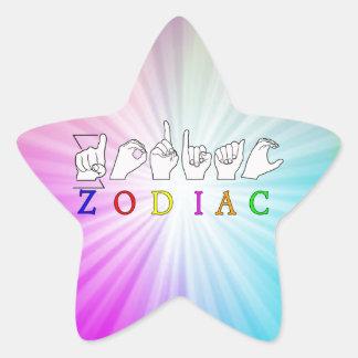 ZODIAC FINGERSPELLED ASL NAME  SIGN STAR STICKER