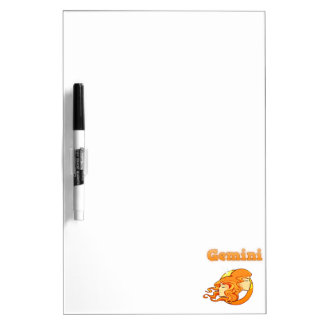 Zodiac Gemini illustration Dry Erase Board