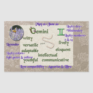 Zodiac Gemini sticker