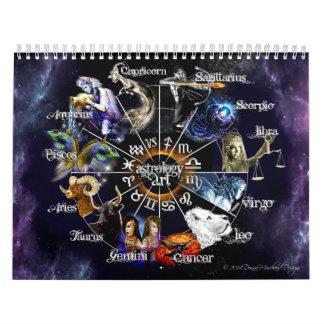 Zodiac Graphic Calendar