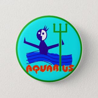 Zodiac Horoscope Astrology Sign Aquarius Button